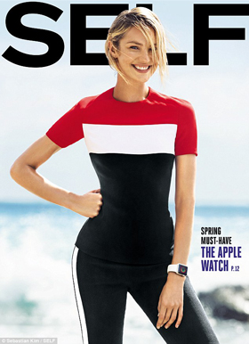 Self magazine with Apple Watch