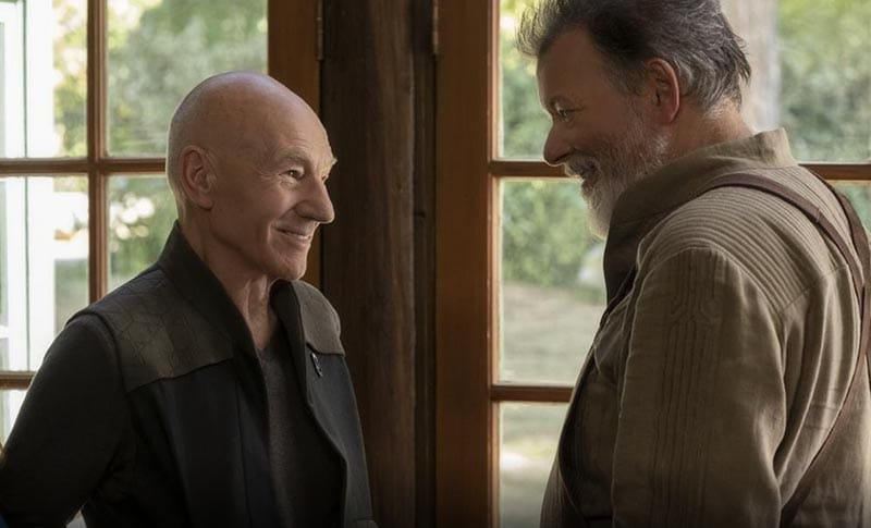Jean-Luc Picard and Will Riker
